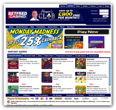 BetFred Casino Slots