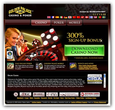 Golden Palace Casino Website