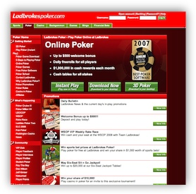 Ladbrokes Poker Website
