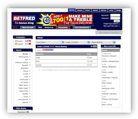 BetFred Football Betting