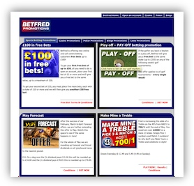 Current Offers at BetFred