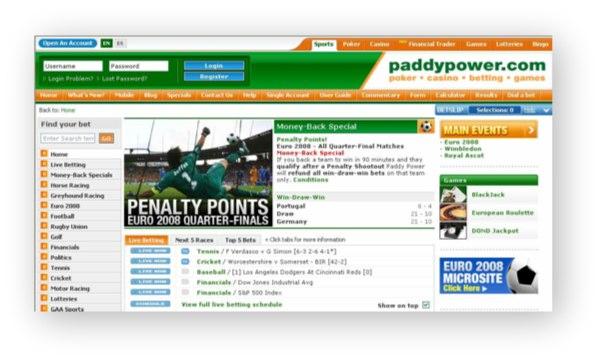 Paddy Power Website