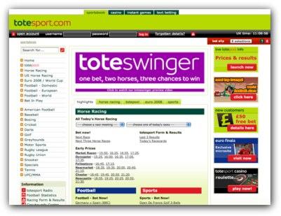 Tote Sport Website